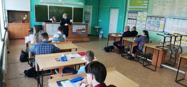 В Березовском районе сотрудники ГИБДД предупредили старшеклассников об ответственности за нарушения ПДД